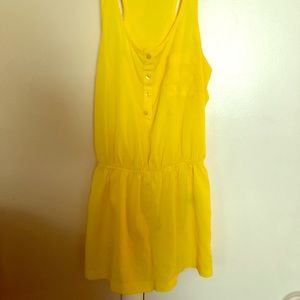 FOREVER21 yellow romper shorts
